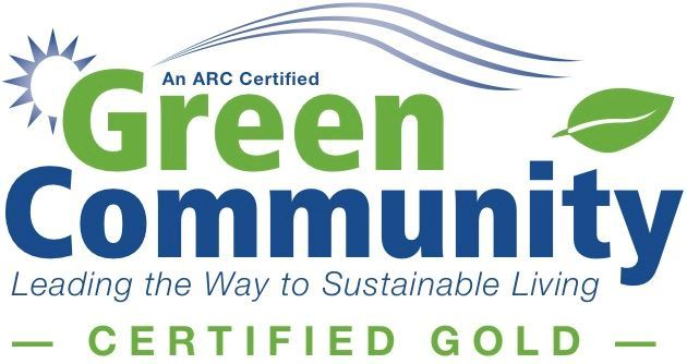 Image of ARC Green Communities Program logo for Gold Level Communities.